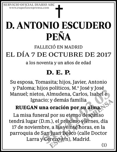 Antonio Escudero Peña